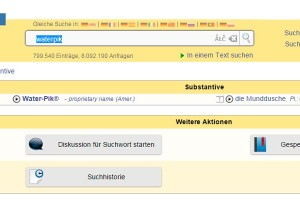Waterpik Munddusche Englisch Deutsch